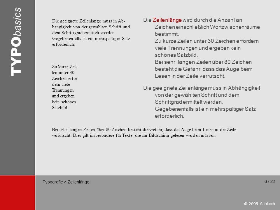Typografie > Zeilenlänge