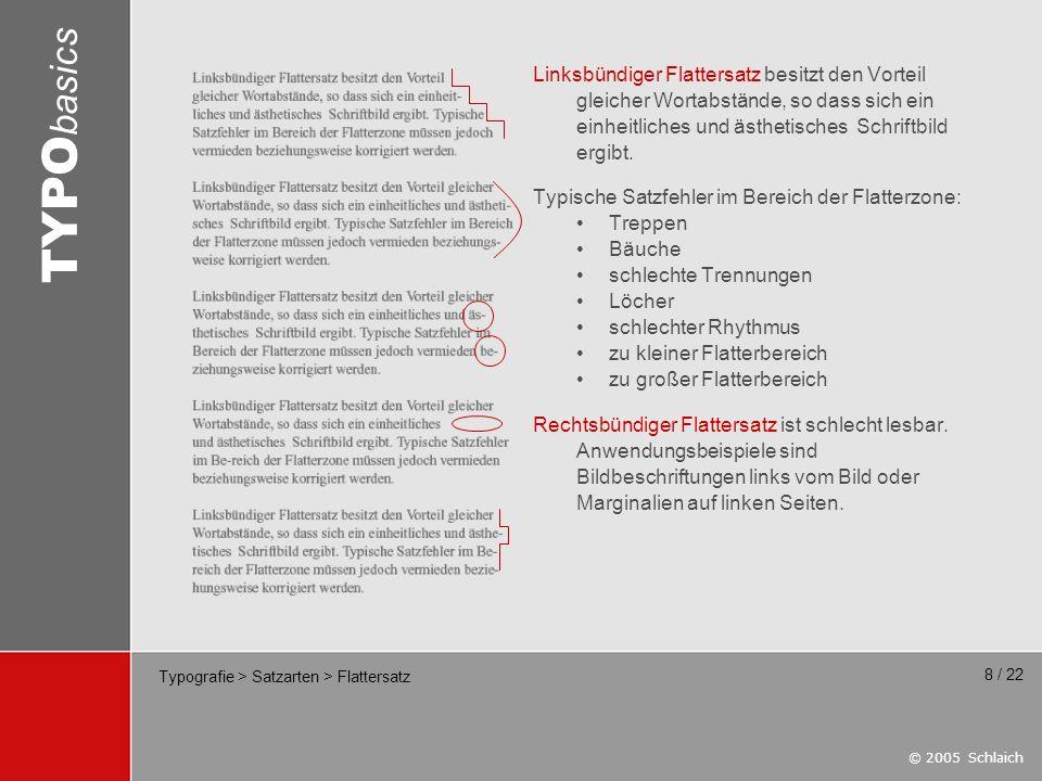Typografie > Satzarten > Flattersatz