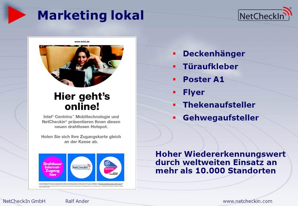 Marketing lokal Deckenhänger Türaufkleber Poster A1 Flyer
