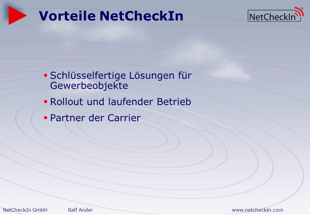 Vorteile NetCheckIn Schlüsselfertige Lösungen für Gewerbeobjekte