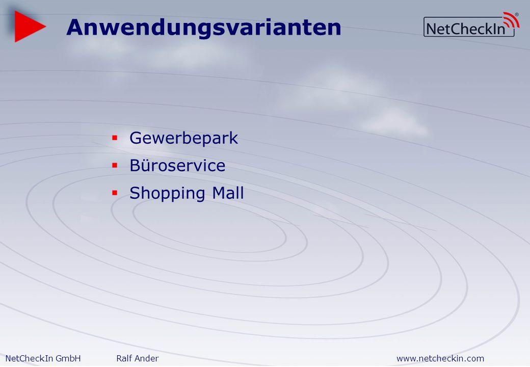 Anwendungsvarianten Gewerbepark Büroservice Shopping Mall