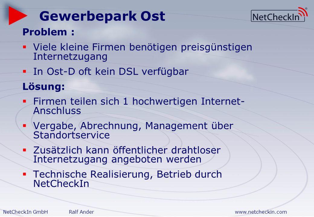 Gewerbepark Ost Problem :