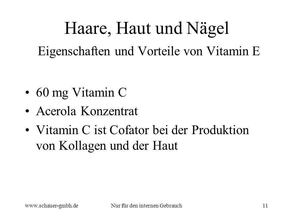 Haare, Haut und Nägel Eigenschaften und Vorteile von Vitamin E