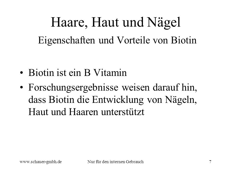 Haare, Haut und Nägel Eigenschaften und Vorteile von Biotin