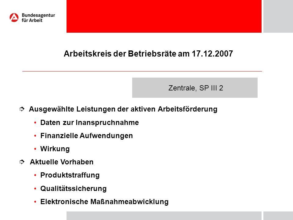 Arbeitskreis der Betriebsräte am 17.12.2007