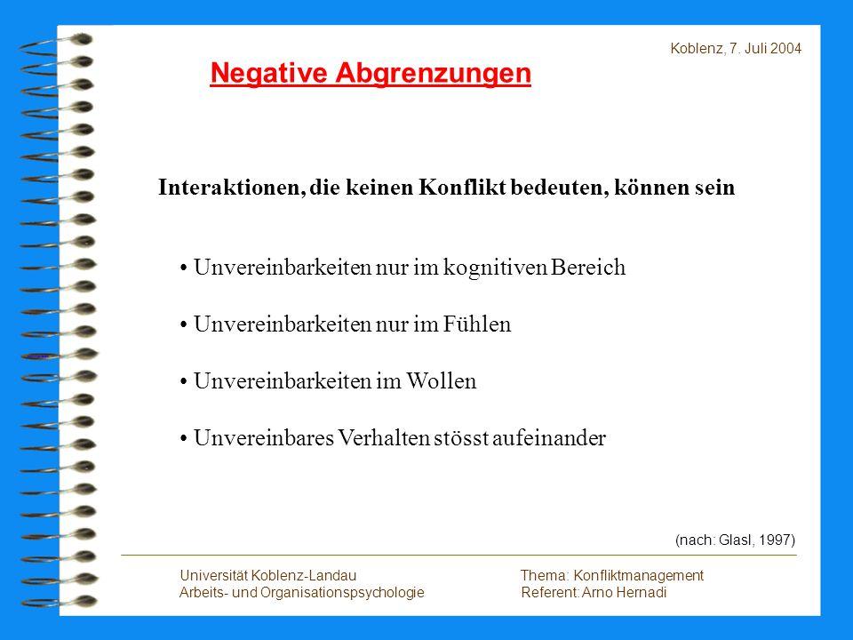 Negative Abgrenzungen
