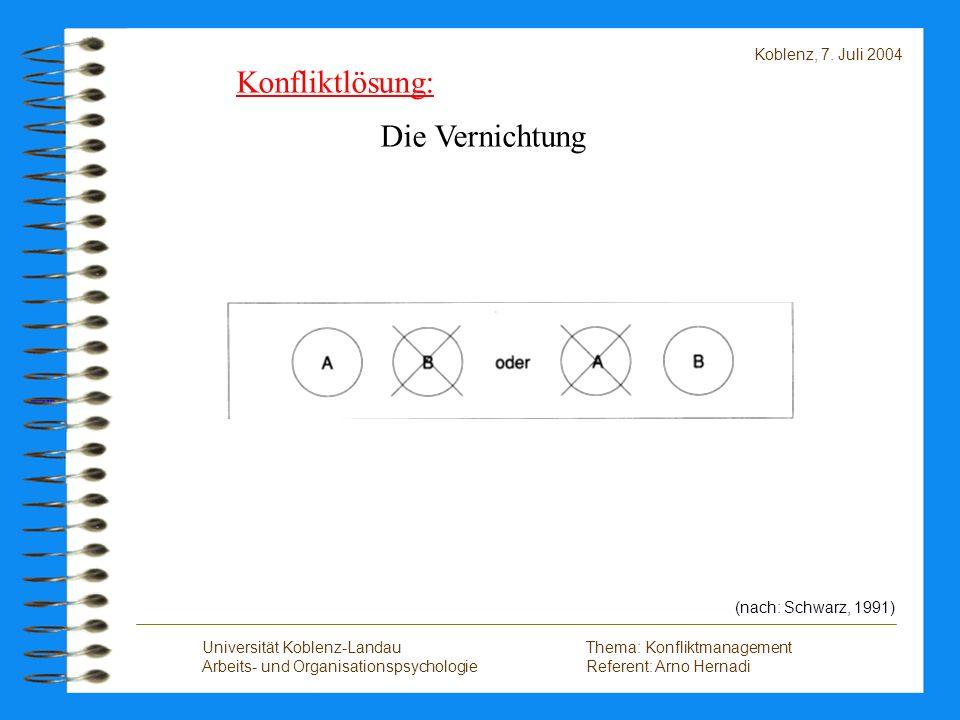 Konfliktlösung: Die Vernichtung Koblenz, 7. Juli 2004