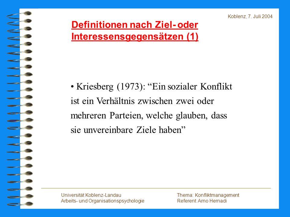 Definitionen nach Ziel- oder Interessensgegensätzen (1)