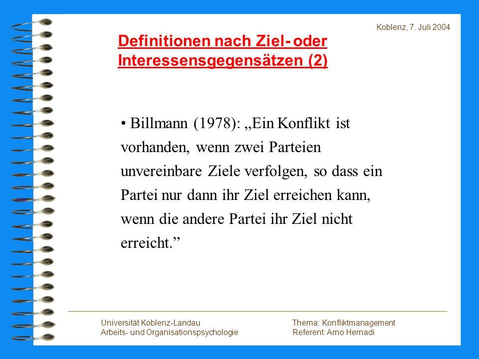 Definitionen nach Ziel- oder Interessensgegensätzen (2)