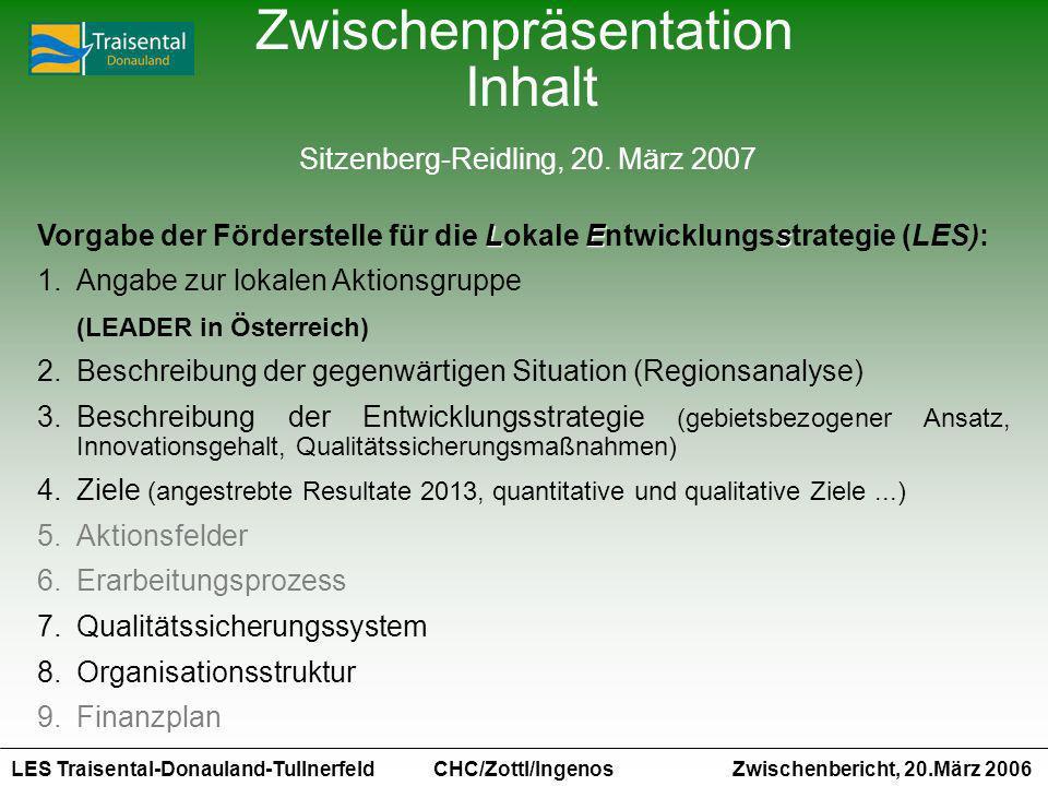 Zwischenpräsentation Inhalt Sitzenberg-Reidling, 20. März 2007
