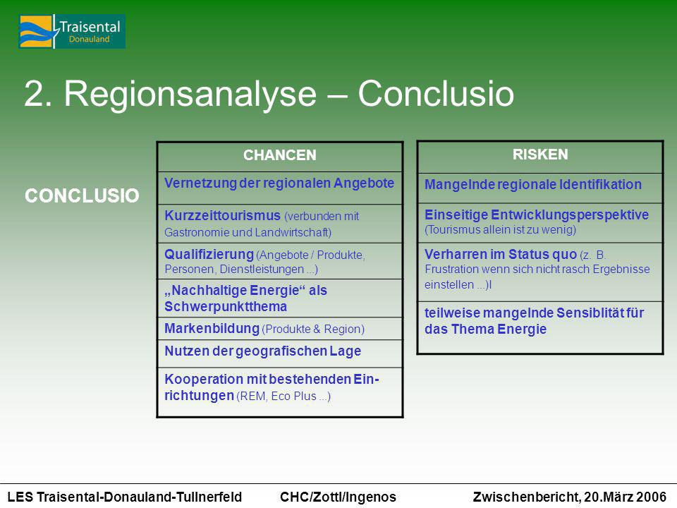 2. Regionsanalyse – Conclusio