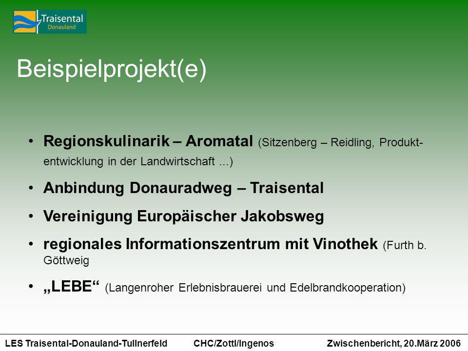 Beispielprojekt(e) Regionskulinarik – Aromatal (Sitzenberg – Reidling, Produkt-entwicklung in der Landwirtschaft ...)