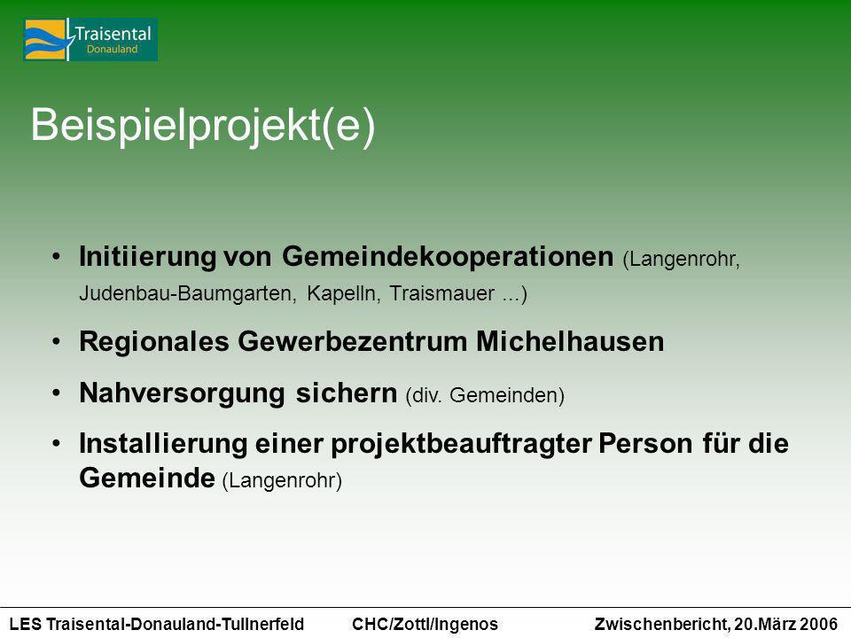 Beispielprojekt(e) Initiierung von Gemeindekooperationen (Langenrohr, Judenbau-Baumgarten, Kapelln, Traismauer ...)