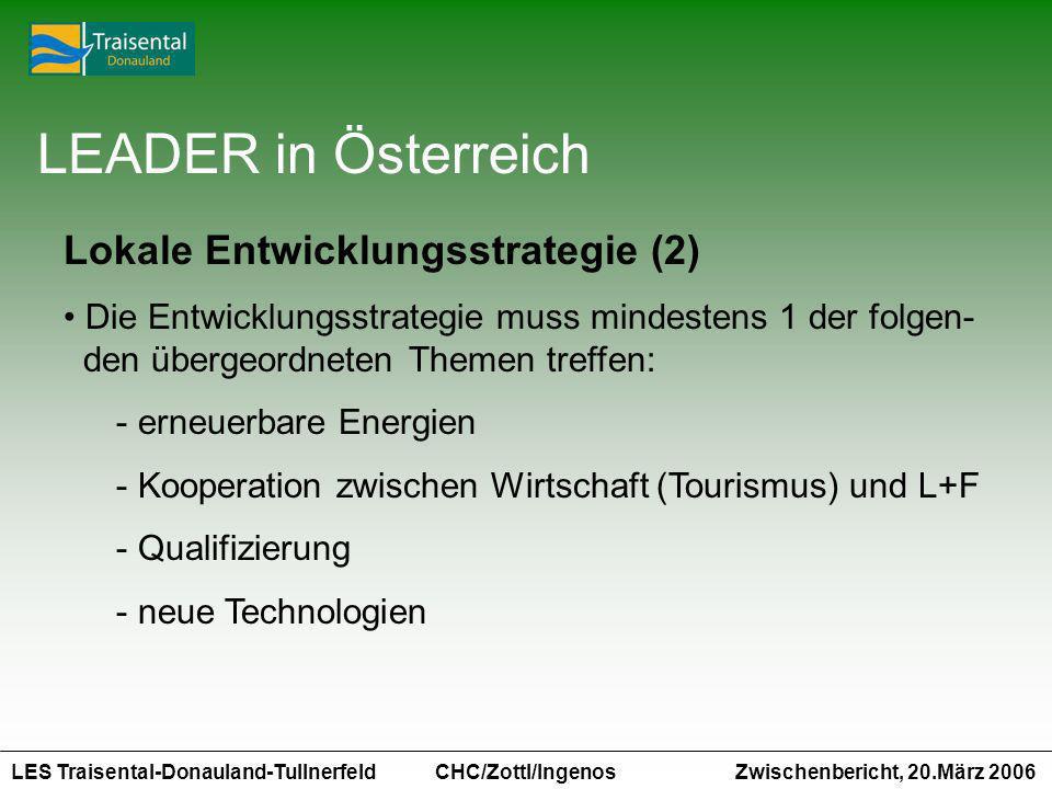 LEADER in Österreich Lokale Entwicklungsstrategie (2)