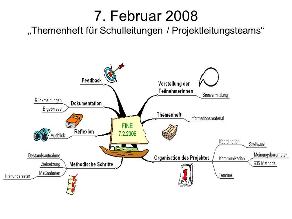 """7. Februar 2008 """"Themenheft für Schulleitungen / Projektleitungsteams"""