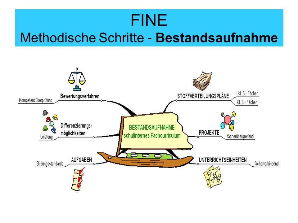 FINE Methodische Schritte - Bestandsaufnahme