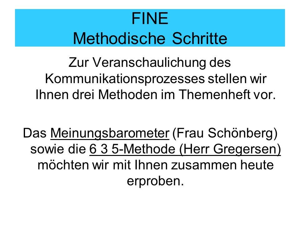 FINE Methodische Schritte