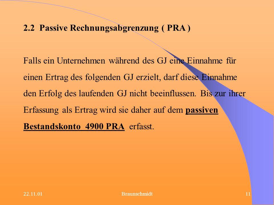 2.2 Passive Rechnungsabgrenzung ( PRA )