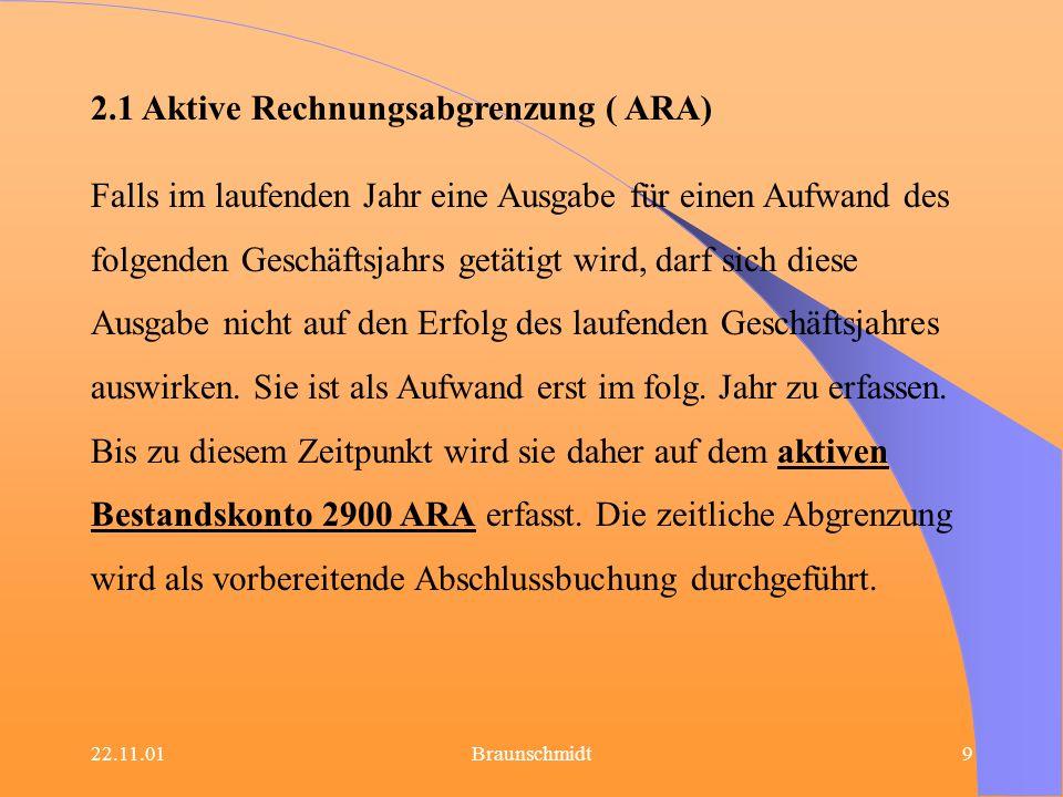 2.1 Aktive Rechnungsabgrenzung ( ARA)