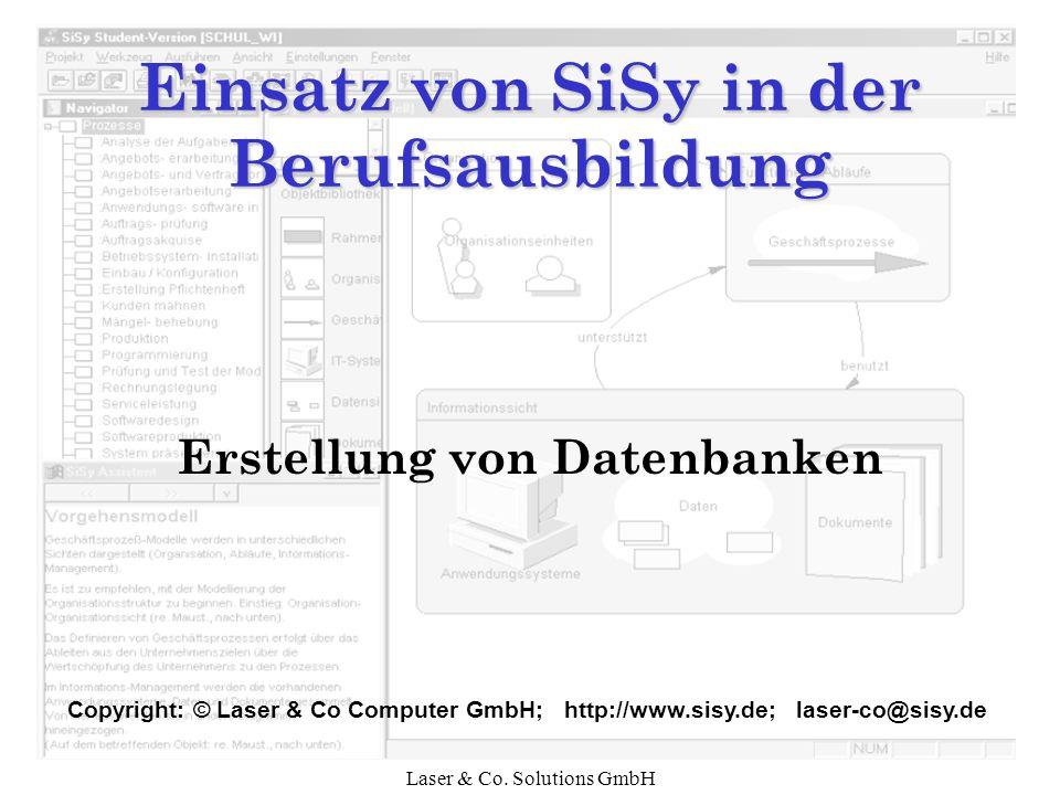 Einsatz von SiSy in der Berufsausbildung
