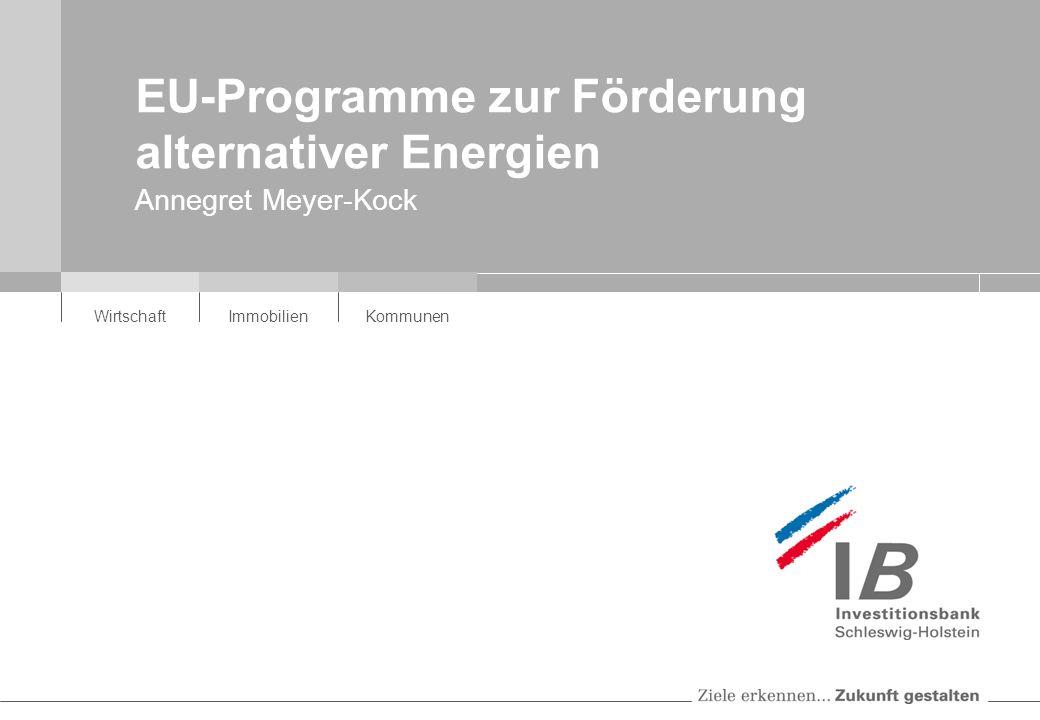 EU-Programme zur Förderung alternativer Energien