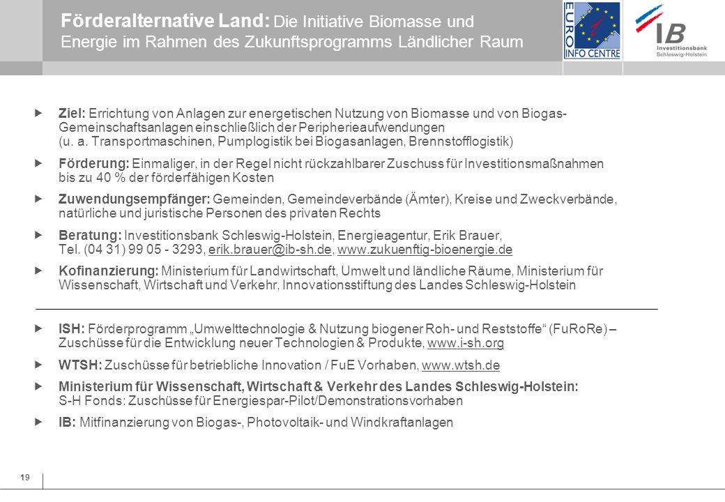 27.03.2017 Förderalternative Land: Die Initiative Biomasse und Energie im Rahmen des Zukunftsprogramms Ländlicher Raum.