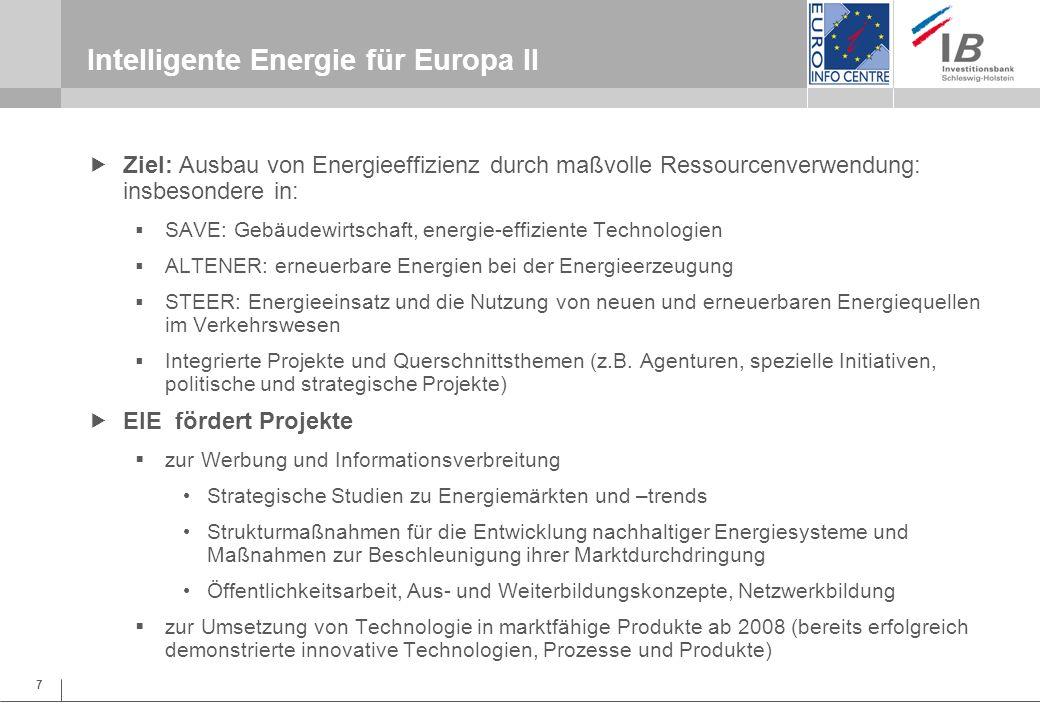 Intelligente Energie für Europa II