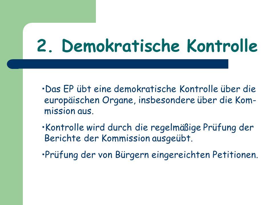 2. Demokratische Kontrolle
