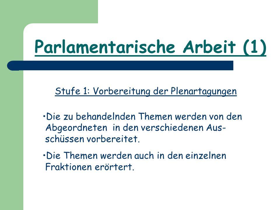 Parlamentarische Arbeit (1)