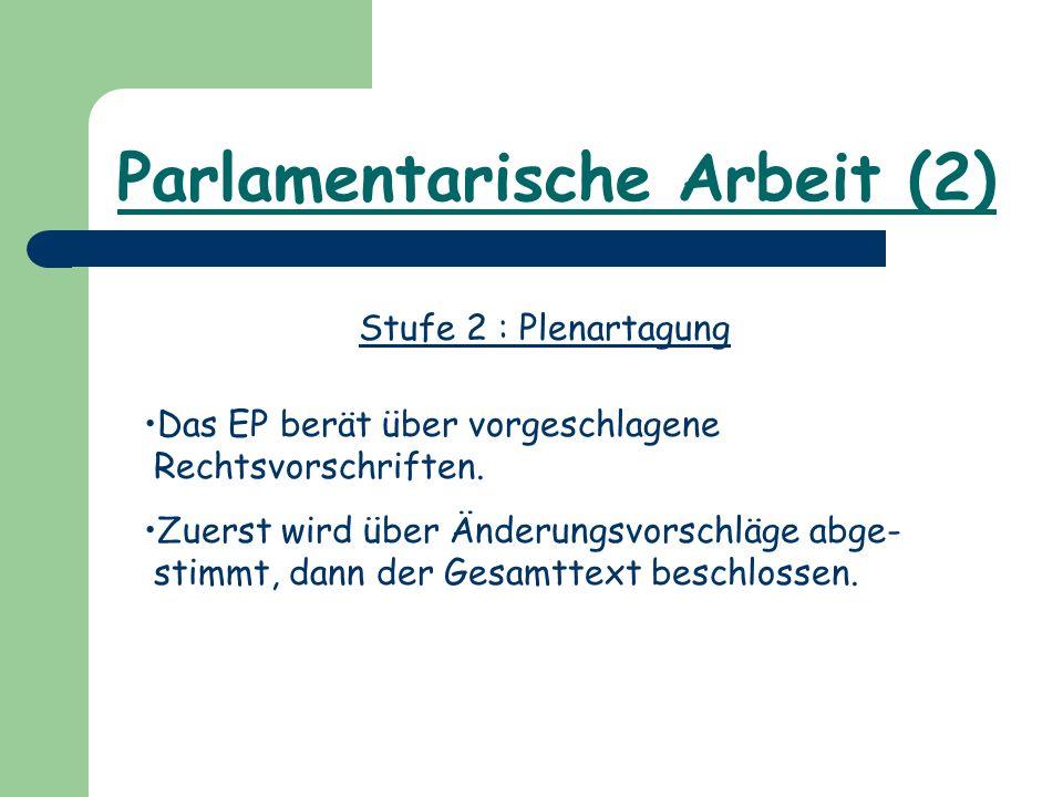 Parlamentarische Arbeit (2)