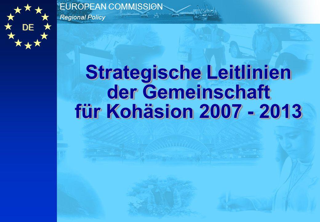 Strategische Leitlinien der Gemeinschaft für Kohäsion 2007 - 2013