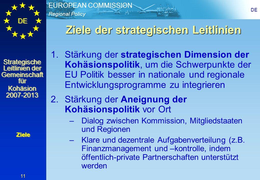 Ziele der strategischen Leitlinien