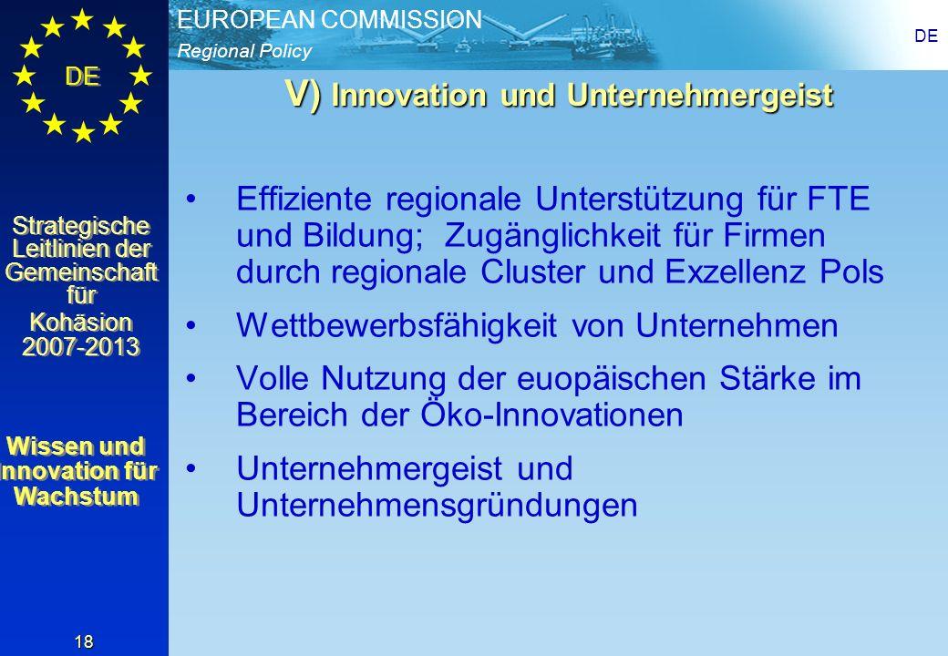 V) Innovation und Unternehmergeist