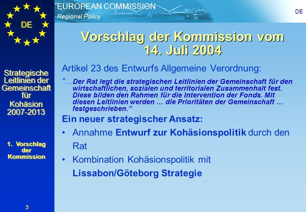 Vorschlag der Kommission vom 14. Juli 2004