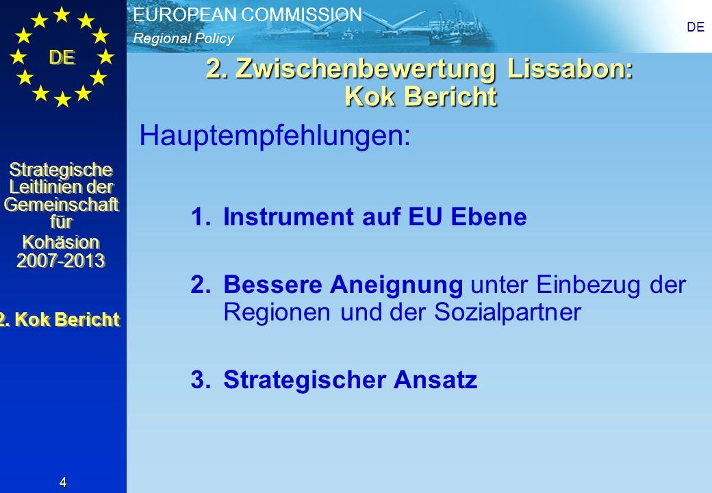 2. Zwischenbewertung Lissabon: Kok Bericht