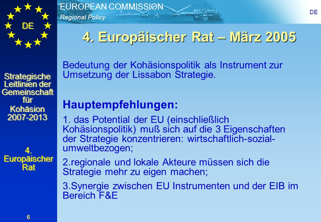 4. Europäischer Rat – März 2005