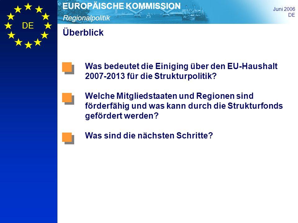 Überblick Was bedeutet die Einiging über den EU-Haushalt 2007-2013 für die Strukturpolitik