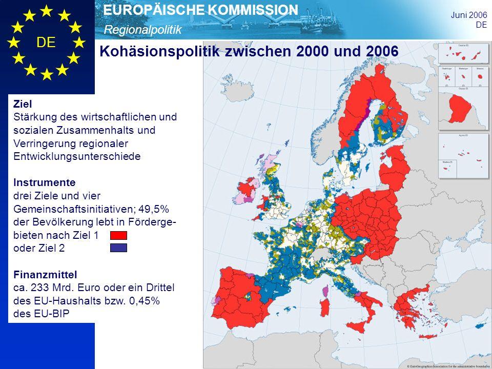 Kohäsionspolitik zwischen 2000 und 2006