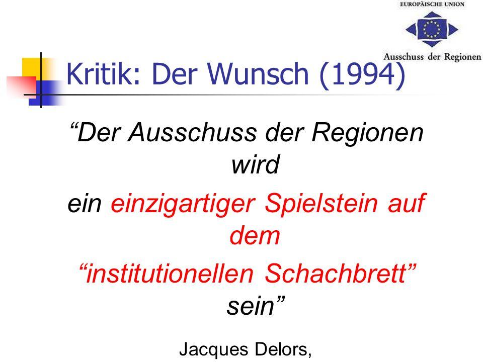 Kritik: Der Wunsch (1994) Der Ausschuss der Regionen wird