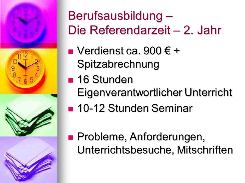 Berufsausbildung – Die Referendarzeit – 2. Jahr
