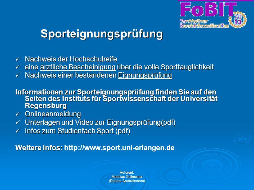 Sporteignungsprüfung