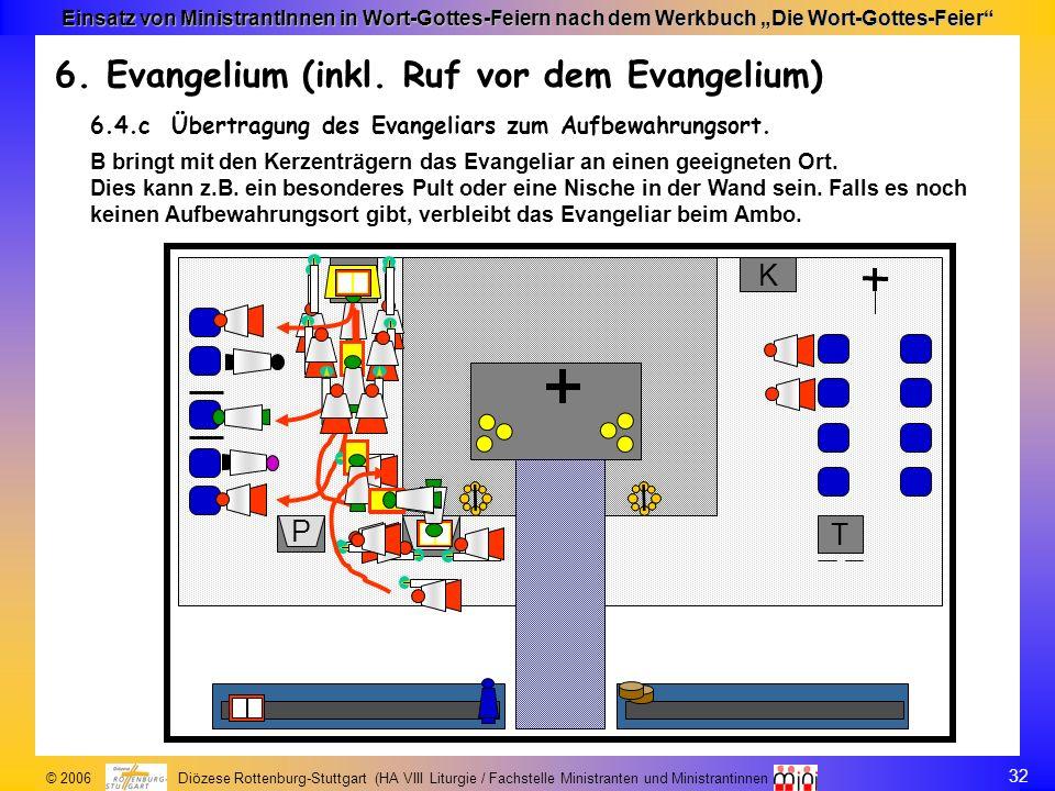 6. Evangelium (inkl. Ruf vor dem Evangelium)