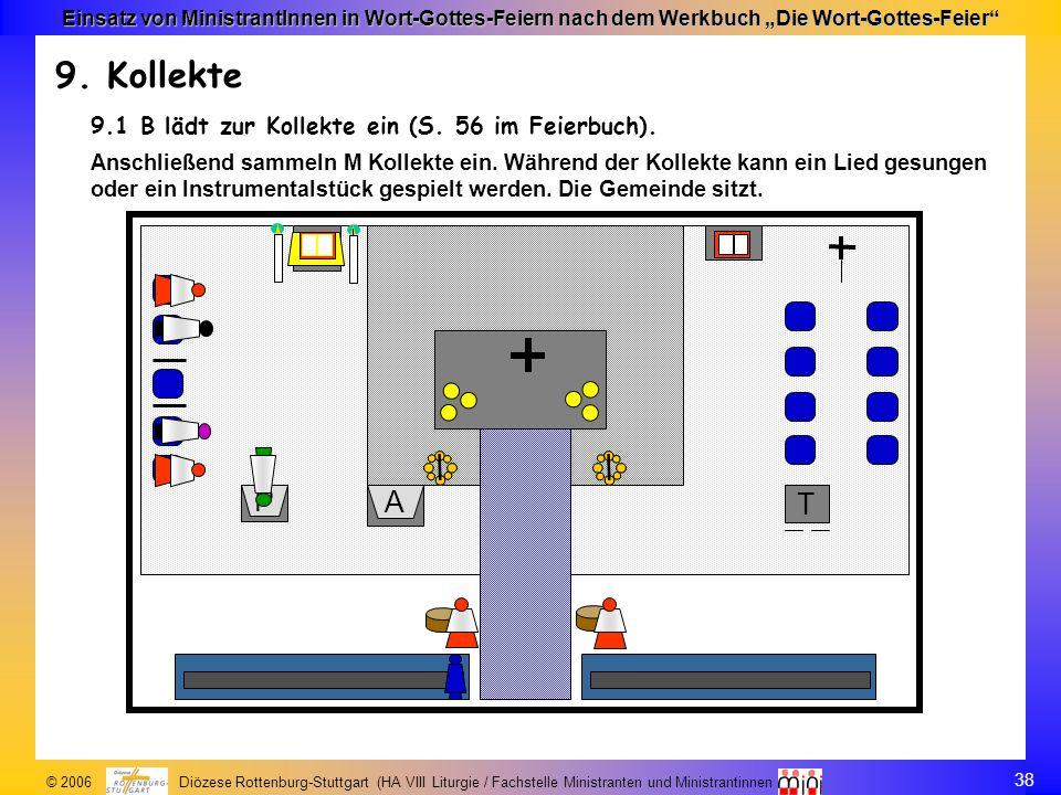 9. Kollekte 9.1 B lädt zur Kollekte ein (S. 56 im Feierbuch).