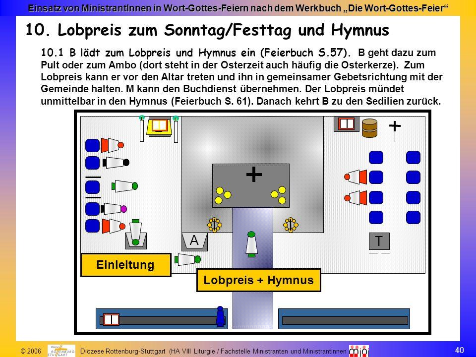 10. Lobpreis zum Sonntag/Festtag und Hymnus