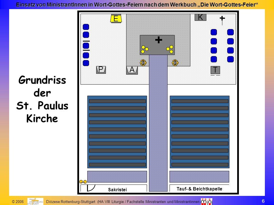 Grundriss der St. Paulus Kirche