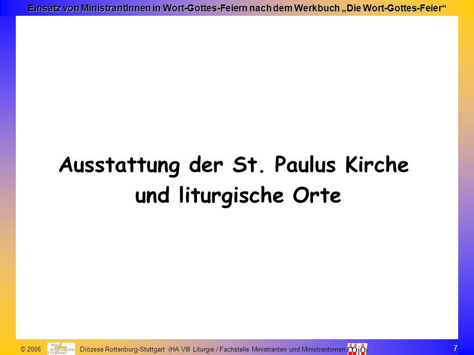 Ausstattung der St. Paulus Kirche