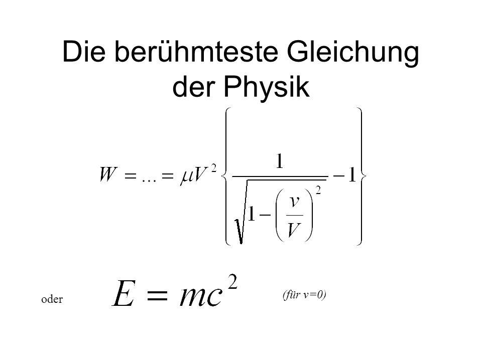Die berühmteste Gleichung der Physik