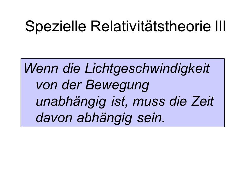 Spezielle Relativitätstheorie III