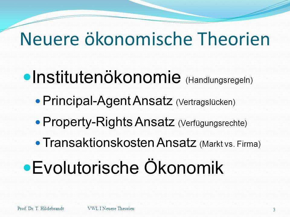 Neuere ökonomische Theorien