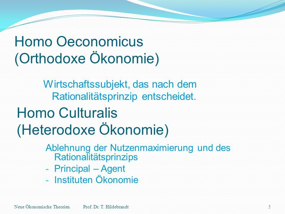 Homo Oeconomicus (Orthodoxe Ökonomie)